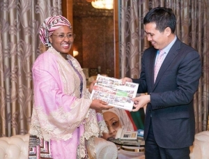 Aisha Buhari All Smiles As She Receives Chinese Ambassador In Abuja